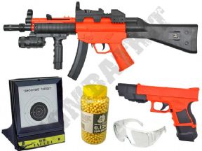 HY017 Rifle & P698+ BB Pistol 2 Tone Spring Airsoft Guns, Pellets & Target Set Bundle | KOMBATKIT